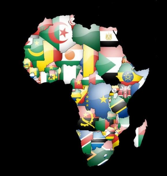 mapa unión africana