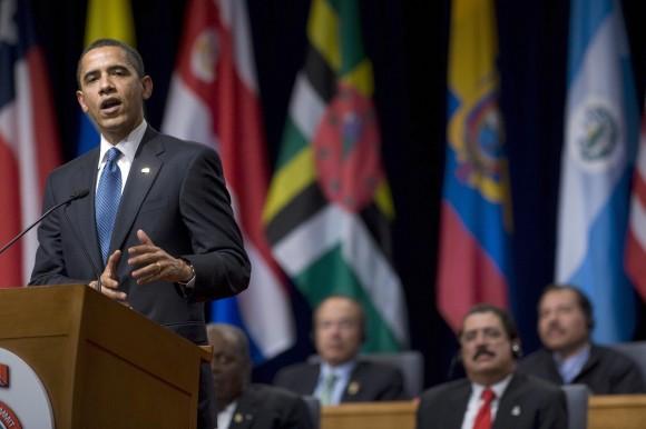 Presidente Obama durante recorrido por centroamérica