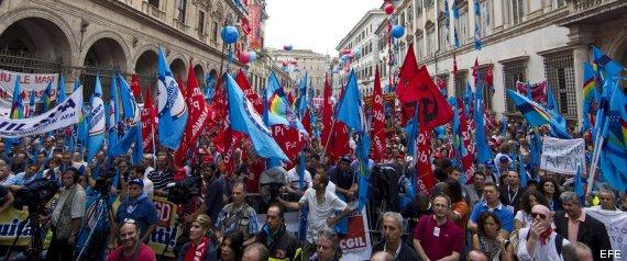 EL SECTOR PÚBLICO ITALIANO PROTESTA DE NUEVO POR LOS RECORTES DEL GOBIERNO