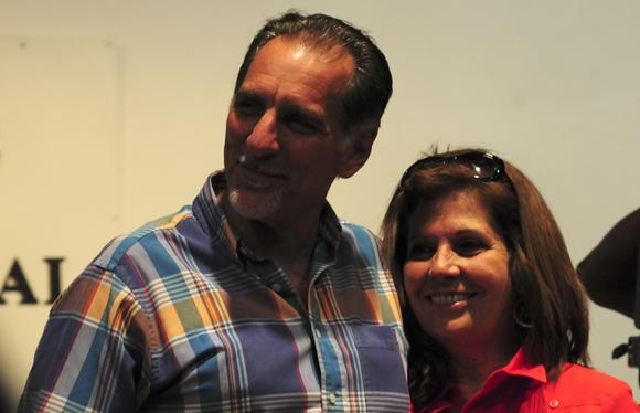 René González junto a Olga Salanueva. Foto: Ladyrene Pérez/Cubadebate.