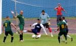 El equipo de Pinar del Río, resulta finalista en el Torneo Clausura del 98 campeonato cubano de fútbol, luego del juego frente al equipo de La Habana, efectuado en el estadio Pedro Marrero, en La Habana, Cuba, el 1 de junio de 2013.  AIN FOTO/Omara GARCÍA MEDEROS