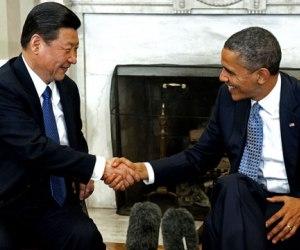 El presidente de Estados Unidos, Barack Obama, y su homólogo chino, Xi Jinping.