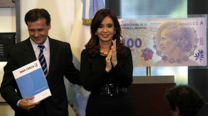 Cristina Fernández durante la inauguración.