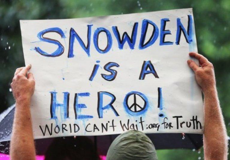 manifestaciones en apoyo a Edward Snowden
