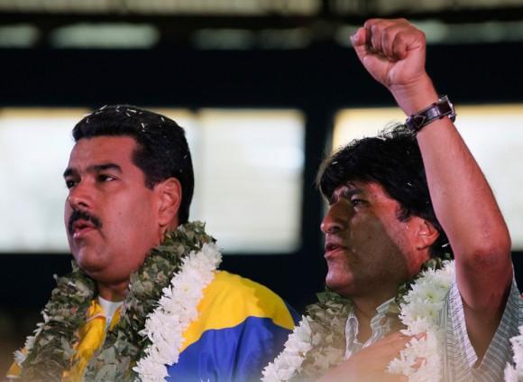 Evo y Maduro. Foto: Reuters