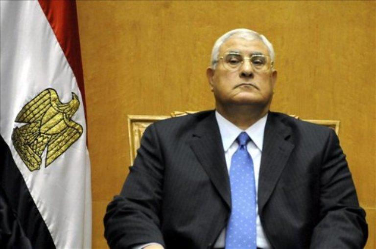 Adil Mansur, presidente interino de Egipto. FOTO: EFE
