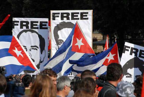 Vigilia en Londres para exigir libertad de antiterroristas cubanos