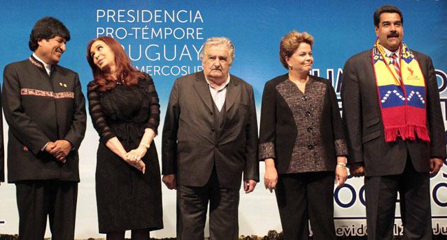 Los presidentes del Mercosur y Evo Morales posaron para la foto oficial de la 45 Cumbre.