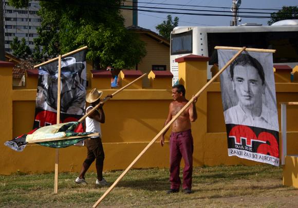 En el Cuartel Moncada, Santiago de Cuba, ultiman detalles para el acto por el 26 de julio. Foto: Daylén Vega/Cubadebate.