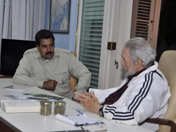Fidel y Maduro. Encuentro en La Habana el 27 de julio de 2013. Foto: Estudios Revolución