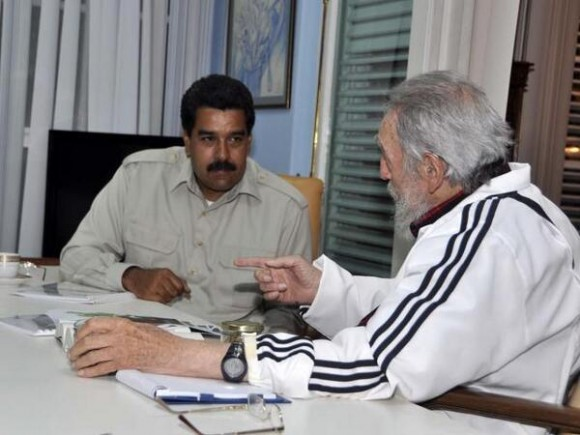 Maduro y Fidel en julio de 2013 Foto: Estudios Revolución/ Archivo