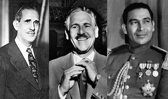 Ramón Grau San Martín, Carlos Prío, Fulgencio Batista. Foto: Internet
