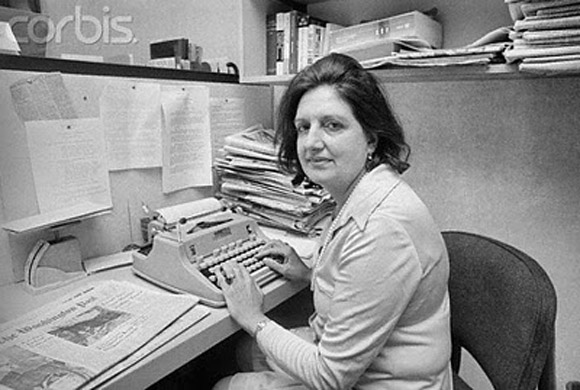 Helen, en su oficina, en  1970.