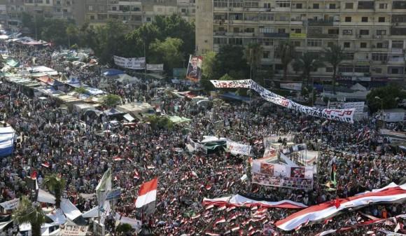 Masivas manifestaciones de apoyo Mursi en el Cairo el pasado 19 de julio. Foto: EFE