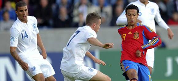 Thiago con la selección Sub 21 de España
