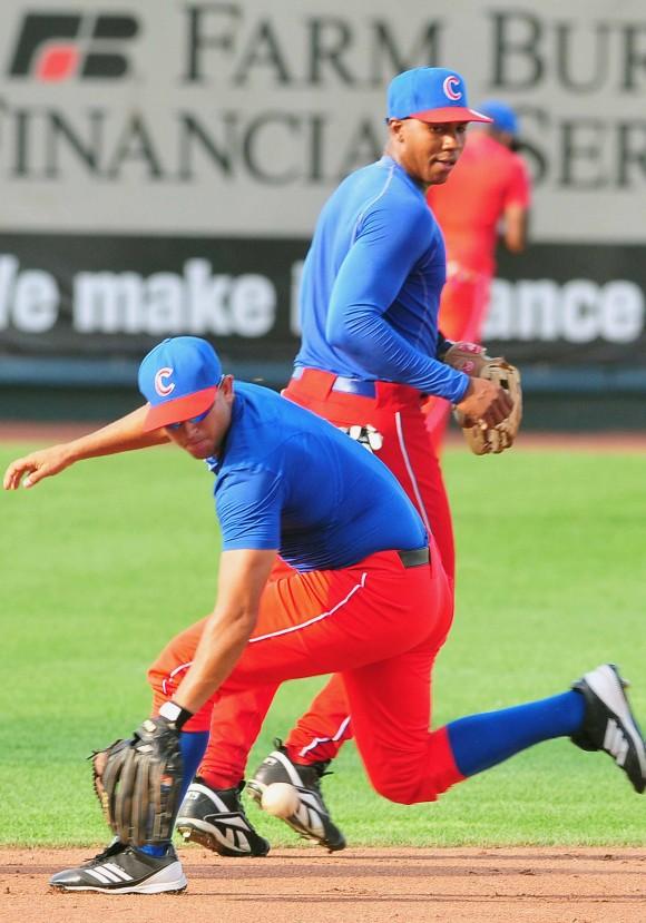 Entrenamiento de la selección de beisbol de Cuba que participara en el tope con su similar de Estados Unidos