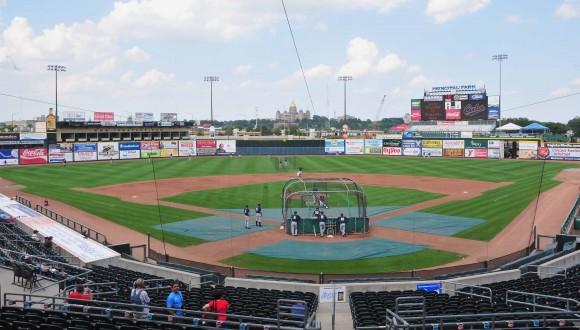 El estadio de Des Moines que servirá de sede al primer juego del tope de béisbol Cuba-EE.UU. Foto: Ricardo López Hevia/Cubadebate
