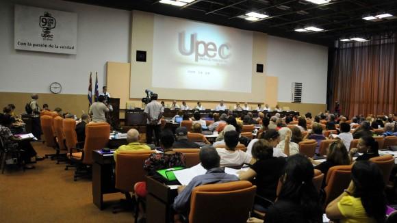 Sesiones finales del 9no Congreso de la UPEC, 13 de julio de 2013. Foto: Marcelino Vázquez/AIN