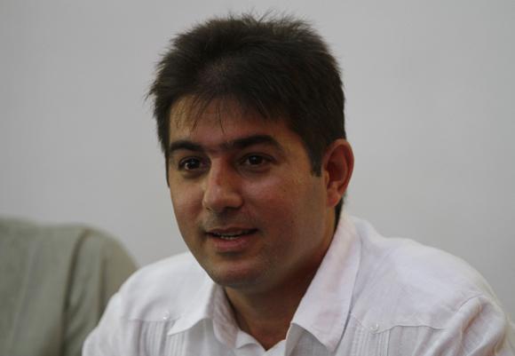 Abel Enrique González Santamaría, autor del libro La Gran Estrategia Estados Unidos VS América Latina. Foto: Ladyrene Pérez/Cubadebate.