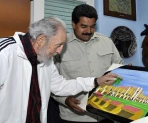 Fidel y Maduro