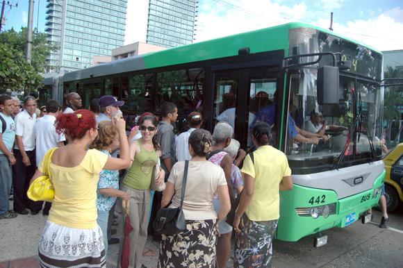Transporte urbano en Cuba.