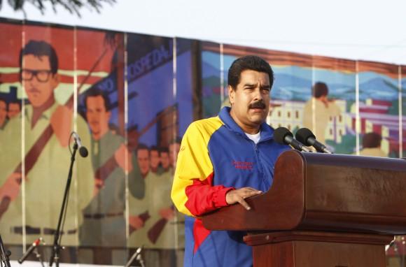 Nicolás Maduro habla en el Acto por el Aniversario 60 del Asalto al Cuartel Moncada. Foto: Ismael Francisco/ Cubadebate