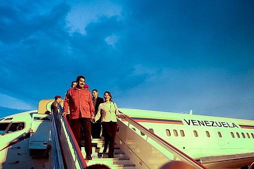 Presidente Venezolano Nicolás Maduro a su llegada a Santiago de Cuba, el 25 de julio de 2013. Foto: Prensa Presidencial Venezuela