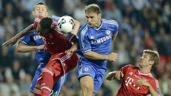Jerome Boateng (Bayern), Branislav Ivanovic (Chelsea) y Thomas Müller.