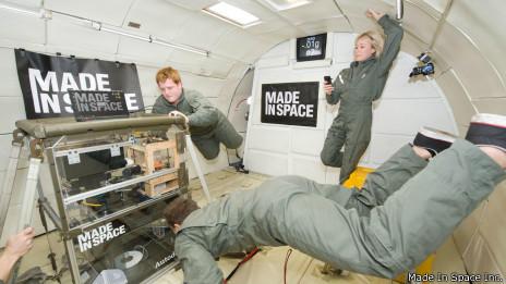 Impresora 3d en el espacio