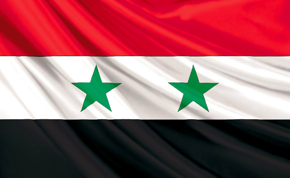 Bandera de la República Árabe de Siria