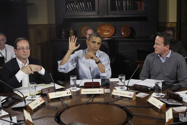 En junio pasado Obama habló acerca de Siria con líderes de la Unión Europea, antes de la Cumbre del G-8.