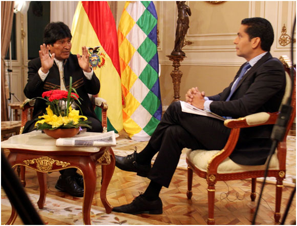 Evo Morales con Ismael Cala
