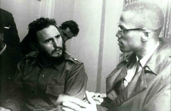 Fidel y Malcom X en el Hotel Teresa.