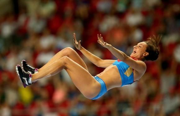 Isinbaeva celebra su oro. Julian Finney (Getty Images
