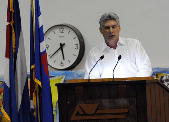 CUBA-LA HABANA-CLAUSURA MIGUEL DÍAZ-CANEL EL IX CONGRESO DE LA U
