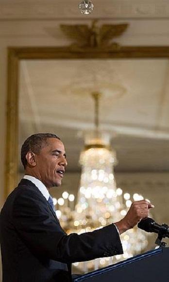 Obama da conferencia de prensa