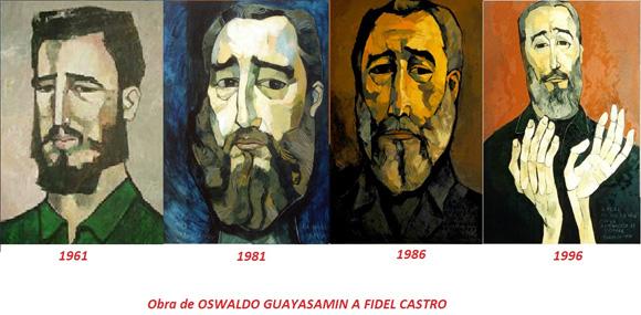 Obra de Oswaldo Guayasamín a Fidel Castro