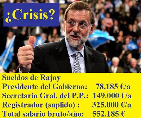 Sueldo de Rajoy