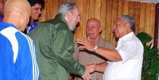 Ramón Pez Ferro junto a Fidel Castro Ruz