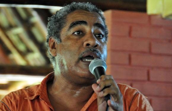 El actor Jorge Díaz, trajo el humor al encuentro. Foto: Ismael Francisco/Cubadebate.