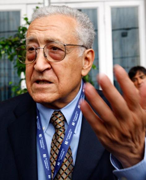 Lakhdar Brahimi, enviado especial de la ONU en Siria.