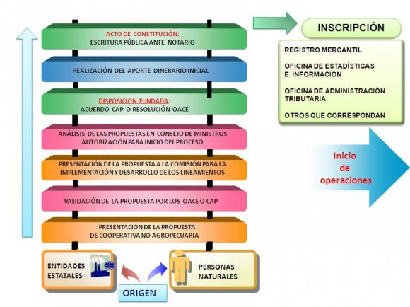 proceso creación de cooperativas