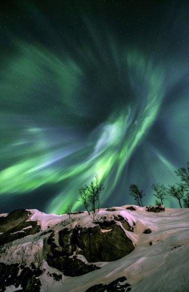 La Tierra y el Espacio. Tomada por Fredrik Broms, Noruega.