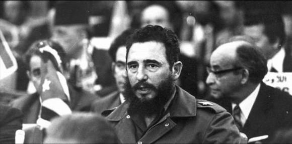 Fidel en la IV Conferencia Cumbre del Movimiento de Países No Alineados. Argel 7 de septiembre de 1973