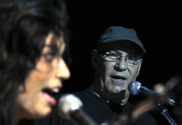 Tammy López y Vicente Feliú en el Concierto por Los Cinco en Bellas Artes, 5 de septiembre de 2013Foto: Ladyrene Pérez/Cubadebate.