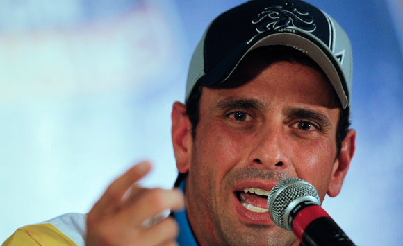 El gobernador del estado Miranda y dirigente opositor, Henrique Capriles Radonski rechazó asistir a la Conferencia Nacional de Paz porque considera que la convocatoria no resolverá el conflicto en el país (Foto: Archivo)