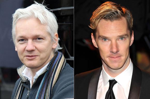 Benedict Cumberbatch (derecha) interpretará a Julian Assange en la película.