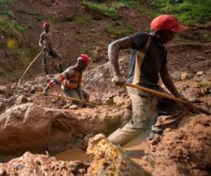 Extracción de minerales en el Congo. Foto: Corbis