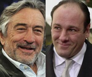 De Niro (izquierda) y Gandolfini.