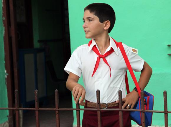 Feliz regreso a la escuela. Foto: Ismael Francisco/Cubadebate.